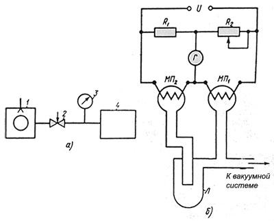 Схема включения и устройство дифференциального манометра.